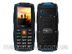 Кнопочный телефон защищенный с большим дисплеем и мощной батареей на 2 сим карты Vkworld Stone V3 NEW blue