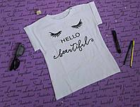 Стильная футболка на девочку 122-134 лет