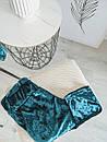 Ультрамодный велюровый женский спортивный костюм М-ка изумрудный, фото 4