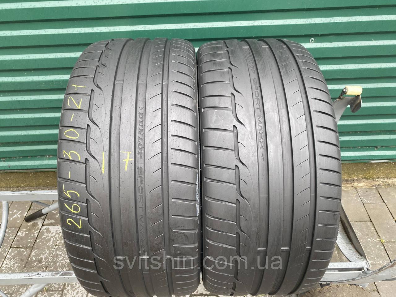 Шини літо 265/30R21 Dunlop SP Sport Maxx RT 6.5мм 17рік