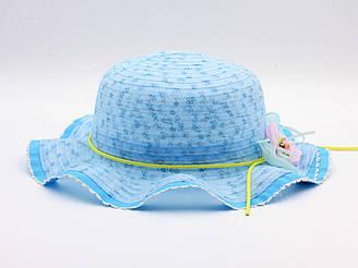 Детская летная шляпа от солнца для девочки голубого цвета 17655