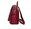 Рюкзак женский кожаный трансформер сумка Hefan Daishu Betty, фото 8