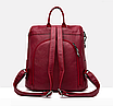 Рюкзак женский кожаный трансформер сумка Hefan Daishu Betty, фото 6