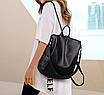 Рюкзак женский кожаный трансформер сумка Hefan Daishu Betty, фото 4