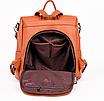 Рюкзак женский кожаный трансформер сумка Hefan Daishu Betty, фото 10