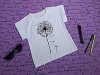 Стильная футболка на девочку 104-122 лет