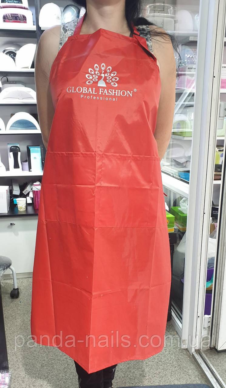Фартук Global Fashion длинный красный