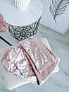 Ультрамодный велюровый женский спортивный костюм С-ка пудра пудренный розовый, фото 5