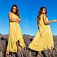 Яркий Красивый летний  женский сарафан желтого цвета с воланами из хлопка, фото 2