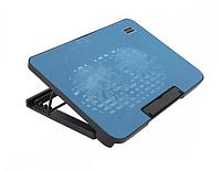 Подставка для охлаждения ноутбука Notebook Cooling Pad N99 до 17 дюймов чёрный с голубым