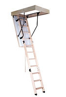 Чердачная лестница складная с утепленной крышкой люка OMAN TERMO S 120х70 Н280 деревянная