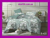 Двуспальный комплект постельного белья из хлопка на молнии Двоспальний комплект постільної білизни  S422