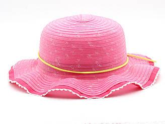Детская летная шляпа от солнца для девочки розового цвета 17656