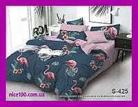 Двуспальный комплект постельного белья из хлопка на молнии Двоспальний комплект постільної білизни  S425