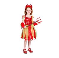 Карнавальный костюм, для девочки Чертенок+подарок
