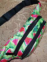 Молодежная поясная сумка из текстиля BR-S зеленая с принтом арбуз 1213697094, фото 2