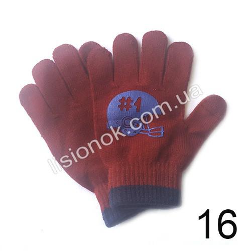 Демисезонные перчатки Carter's темно-красные 4-8 лет