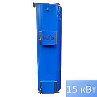 Котел твердотопливный НЕУС Турбо 15кВт с автоматикой и вентилятором