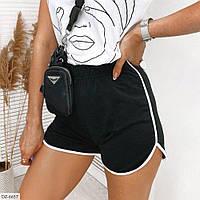 Короткие легкие женские шорты двунитка на лето арт 303