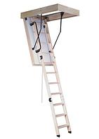 Чердачная лестница складная с утепленным люком OMAN POLAR 120x60 деревянная