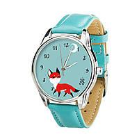 Годинник ZIZ Маленький ліс (ремінець небесно - блакитний, срібло) + додатковий ремінець