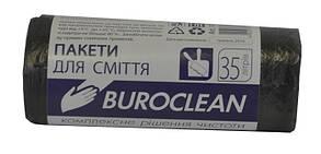 Пакети для сміття Buroclean 35л30шт чорні 10200011