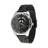 Годинник ZIZ Єнот (ремінець з нержавіючої сталі чорний) + додатковий ремінець