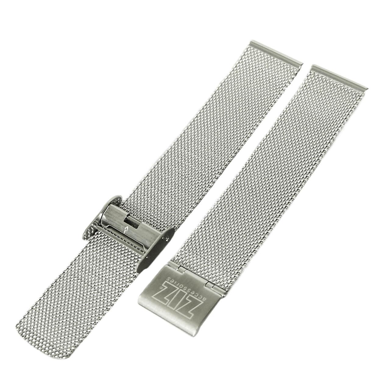 Ремешок для часов ZIZ из нержавеющей стали (серебро)