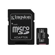 Карта памяти Kingston 16 GB 10 class с адаптером Черный