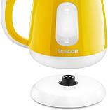 Електричний чайник Sencor SWK 1016YL Жовтий, фото 4