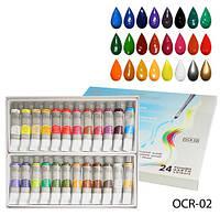 Художественные акриловые краски на масляной основе, 24 цвета Lady Victory LDV OCR-02 /22-2