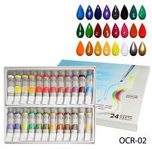 Художні акрилові фарби на масляній основі, 24 кольори Lady Victory LDV OCR-02 /22-2