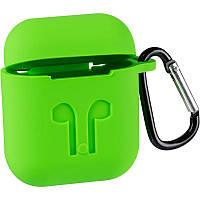 Чехол силиконовый Silicon Case для AirPods Green (3)