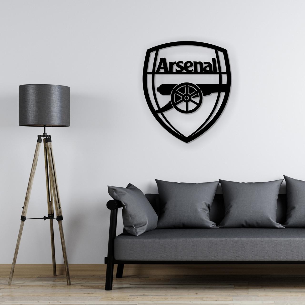 Деревянная футбольная эмблема на стену «Арсенал»