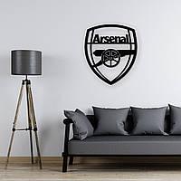 Деревянная футбольная эмблема на стену «Арсенал», фото 1