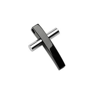 Чорно-білий хрестик Spikes з медичної сталі