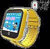 Детские Умные часы с GPS Smart baby watch Q90 желтые - Детские смарт часы-телефон с трекером и кнопкой SOS, фото 6