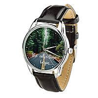 Часы ZIZ Начало приключений (ремешок насыщенно - черный, серебро) + дополнительный ремешок, фото 1