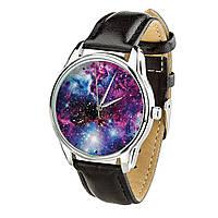 Часы ZIZ Галактика (ремешок насыщенно - черный, серебро) + дополнительный ремешок, фото 1