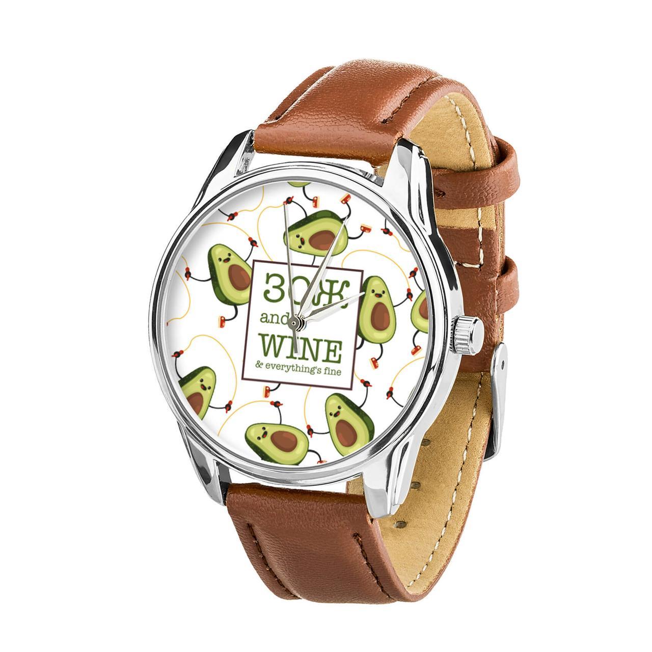 Часы ZIZ ЗОЖ (кофейно - шоколадный, серебро) + дополнительный ремешок