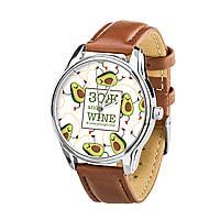 Часы ZIZ ЗОЖ (кофейно - шоколадный, серебро) + дополнительный ремешок, фото 1