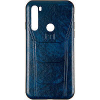 Чехол кожаный Leather Prime для Xiaomi Redmi Note 8t Blue