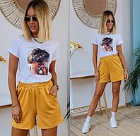 Костюм літній (шорти + футболка) жіночий (ПОШТУЧНО)