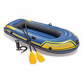 Надувная лодка Intex 68367 (236х114х41 см) Challenger 2 Set Синяя