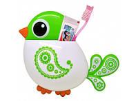 Держатель для зубных щеток и пасты Птичка 96-9316846
