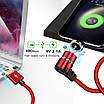 Магнитный кабель для зарядки в тканевой оплетке 2.1А 1м Apple Lightning OLAF Черный, фото 5
