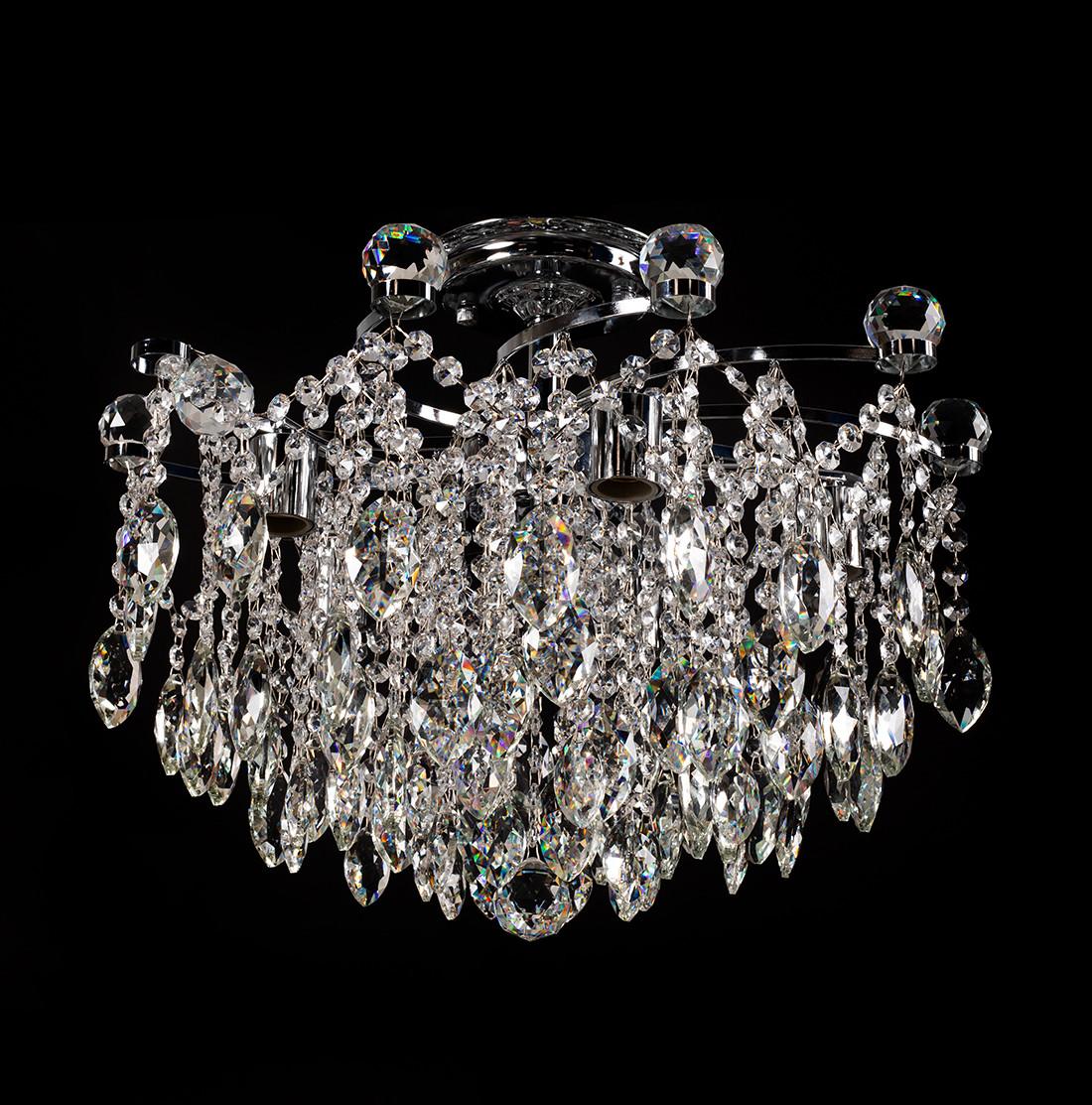 Люстра хрустальная для зала, спальни, 5-ти ламповая SH-67436/5 CR