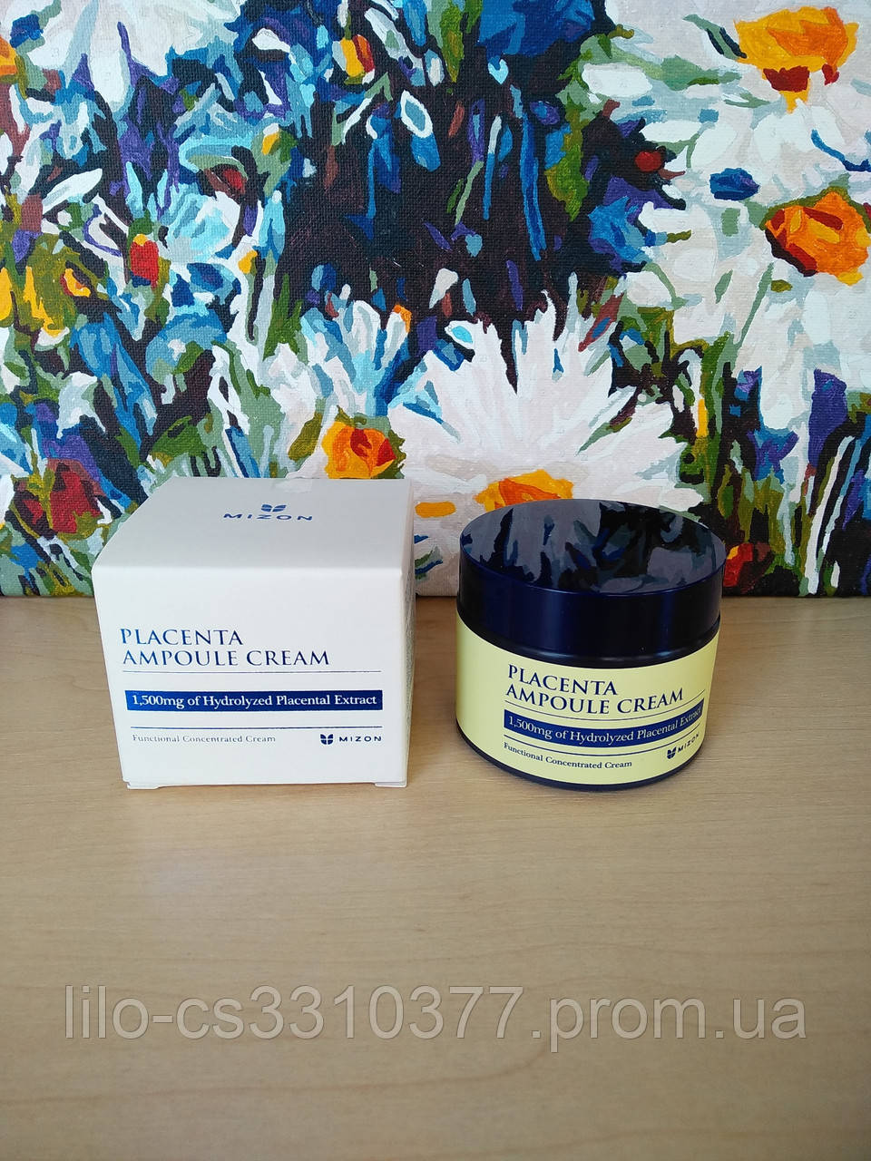 Крем для лица с плацентой для возрастной кожи Mizon Placenta Ampoule Cream
