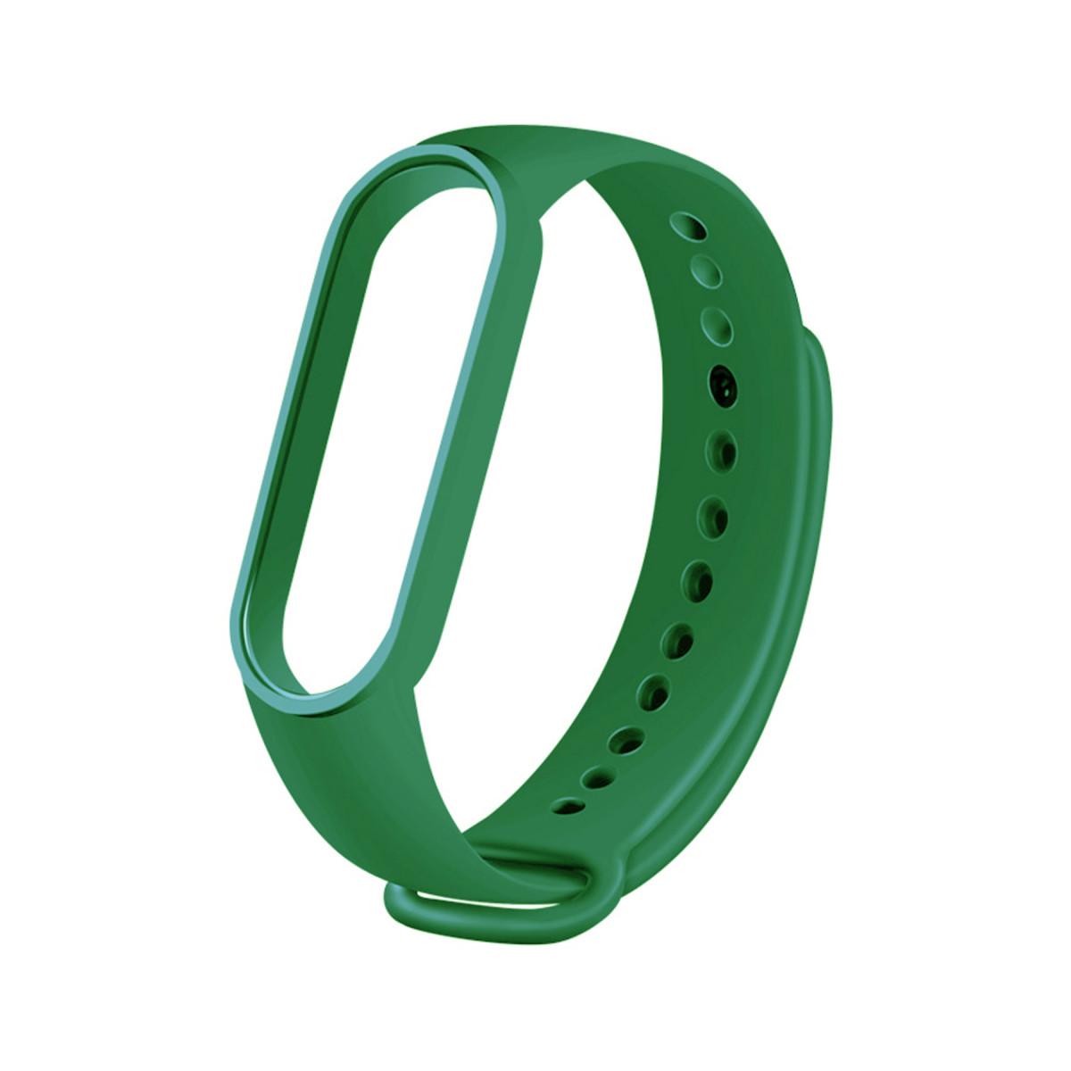 Сменный ремешок на фитнес браслет Xiaomi Mi Smart Band 5 Цвет - Светло-Зеленый (Оливковый)