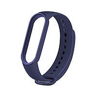 Сменный ремешок на фитнес браслет Xiaomi Mi Smart Band 5 Цвет - Синий